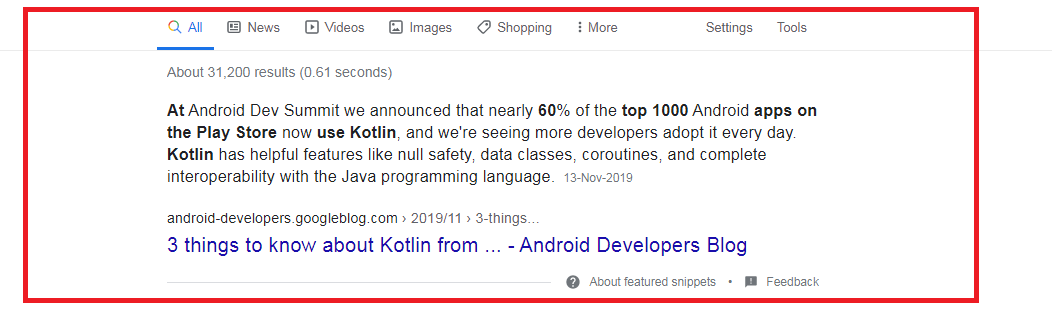 Play Store Apps use Kotlin